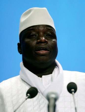 President Jammeh, pictured in 2006, dismissed concerns about the unsolved murder of a prominent journalist. (EPA/Stefan Zaklin)