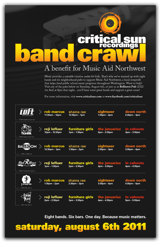Critical Sun Poster~Band Crawl