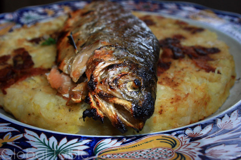 Whole Grilled Trout, Andorran-style