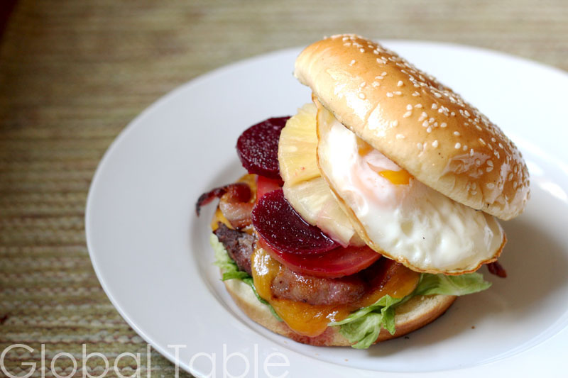 Aussies know how to stack a burger!