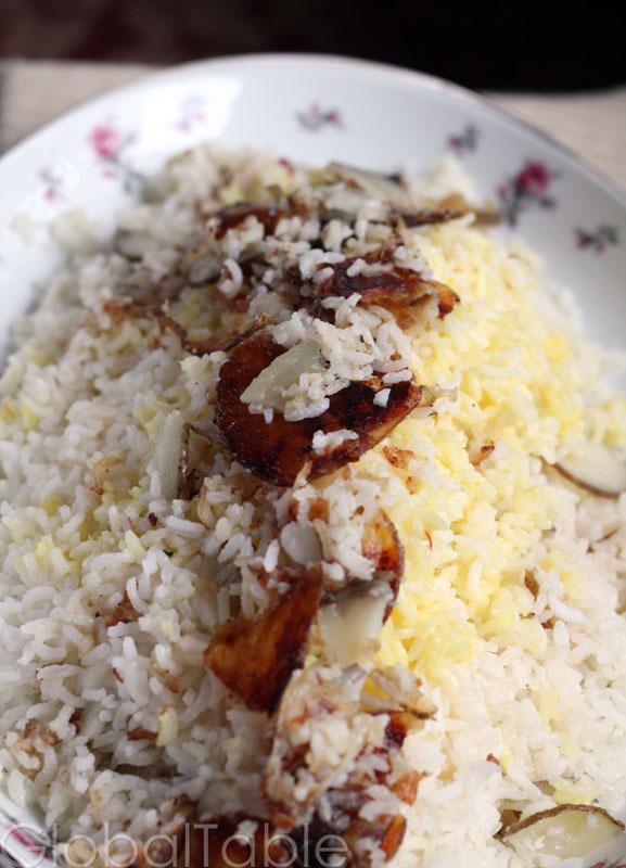Azeri Rice Pilaf with Kazmag