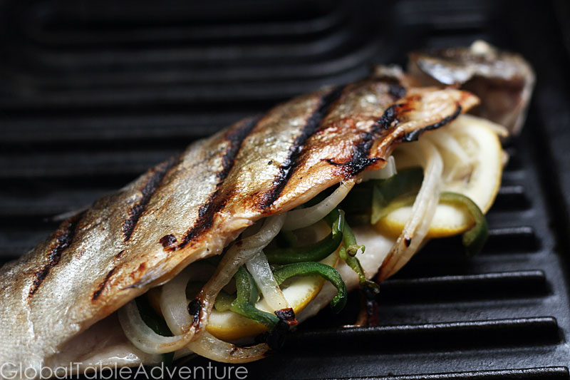 Grilled Whole Trout Stuffed grilled trout global table adventure