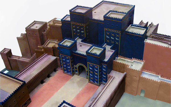 Model of the Ishtar Gate and main procession corridor. Image by ...