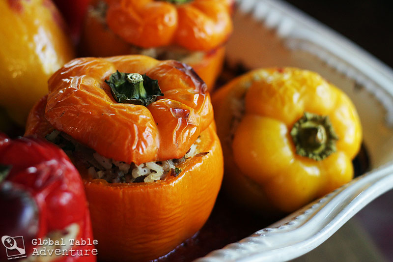 Beef & Sausage Stuffed Peppers | Global Table Adventure