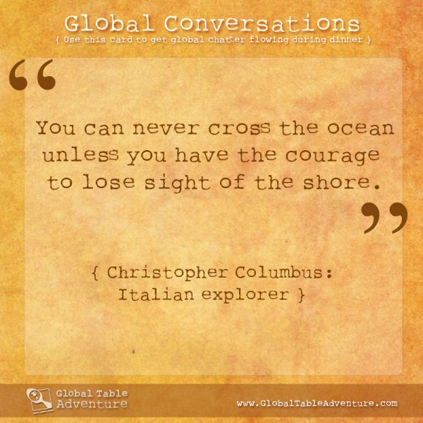 Christopher Columbus quote