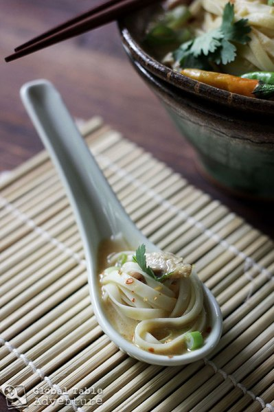 Burmese Coconut Chicken Noodle Soup | ohn-no-khao-swe | Global Table ...