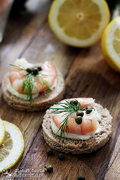 Norwegian Summer Shrimp Party | Shrimp Canapes | Global ...