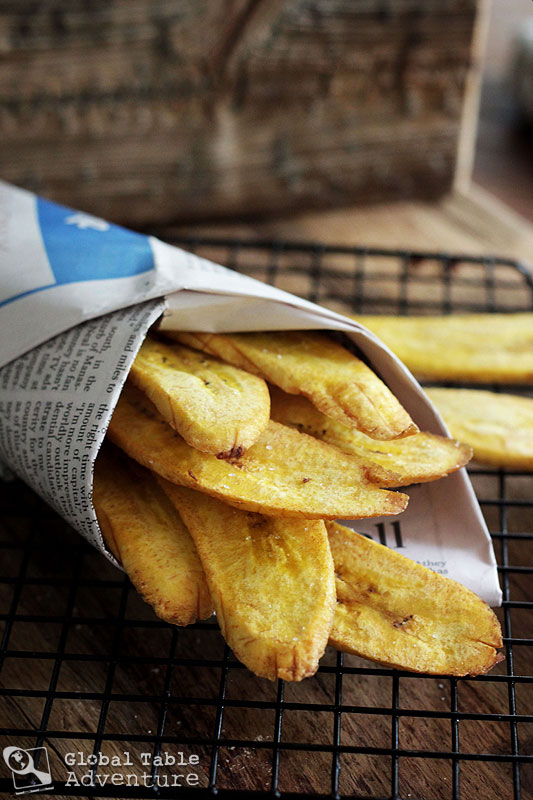 Plantain Chips with Sea Salt | Tostones | Global Table Adventure