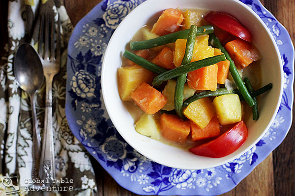 Autumnal Veggies in Spiced Coconut Milk | Global Table Adventure
