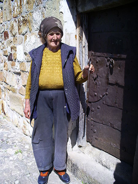 Grandma Jovanka, guardian of Petrova church. Photo by Jovanvb.