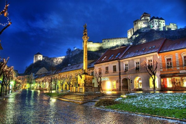 A picture of Trenčín town with Trenčín Castle, Slovakia. Photo by Abphoto.