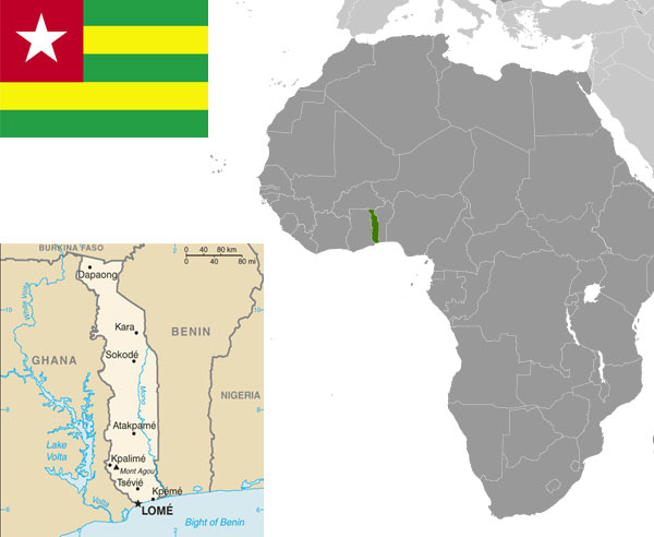 Togo-maps-and-flag