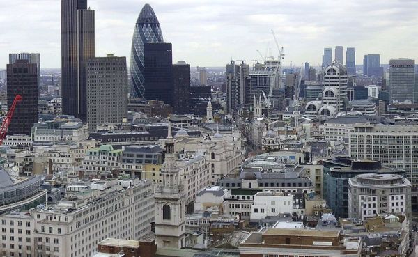 Panoramic view of London from St. Paul's Cathedral. Photo by IgnisFatuus.