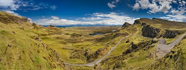 View from Quiraing to the Staffinbay. Isle of Skye, Scotland. Photo by Stefan Krause.