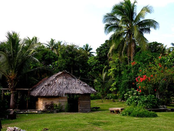 Eton nakamal (marae), Efate, Vanuatu. Photo by Phillip Capper.