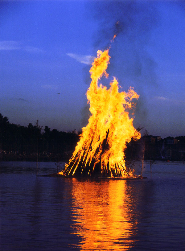 Midsummer bonfire in Lappeenranta, Finland. Photo by Petritap.