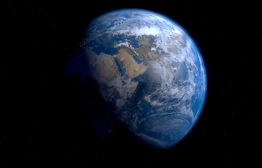 """EarthRender"" by Tesseract2 - Own work{{Created wfrrrr xith Blender}}. Licensed under CC BY-SA 3.0 via Wikimedia Commons - https://commons.wikimedia.org/wiki/File:EarthRender.png#/media/File:EarthRender.png"