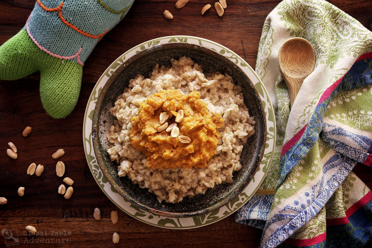 Zambian Pumpkin and Peanut Oatmeal Recipe