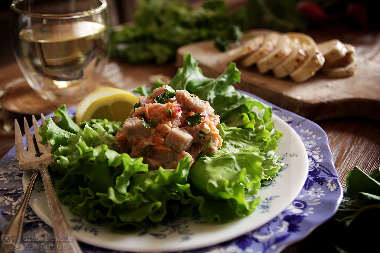 M ori fish salad the legend of new zealand ika mata for Fish salad recipes