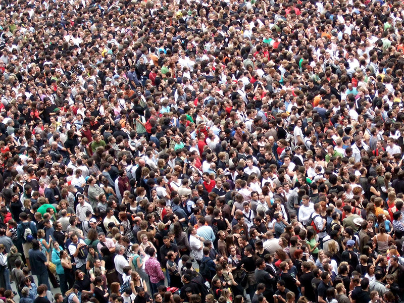 Since the Copenhagen negotiations, the global population has passed 7 billion people. Photo by Flickr user James Cridland. CC-BY-NC-SA 2.0
