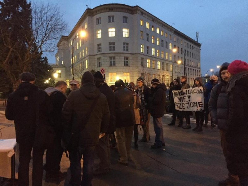 A small group of citizens protested against the surveillance law on January 13. Picture used with permission