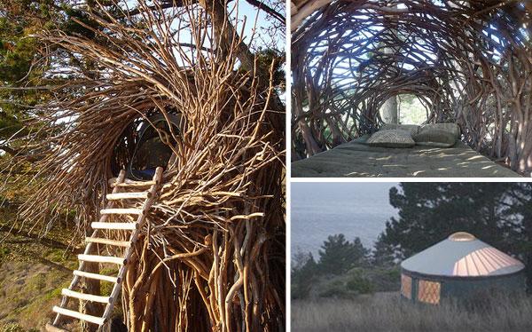 10 Hotel più strani del mondo: Treebones Resort