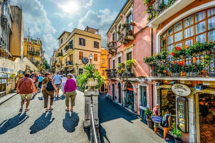 Taormina, Passeggiata centro storico