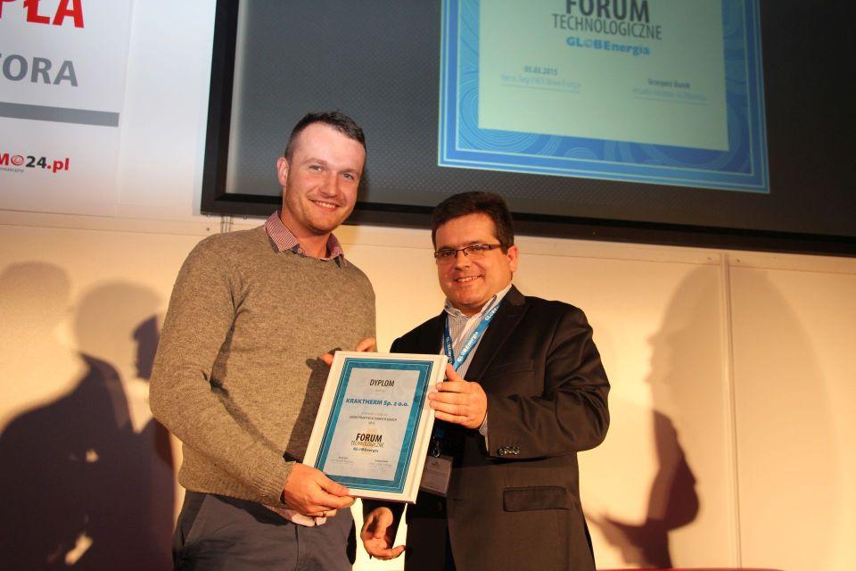 Nagrodę odbiera firma KRAKTHERM Sp. z o.o.