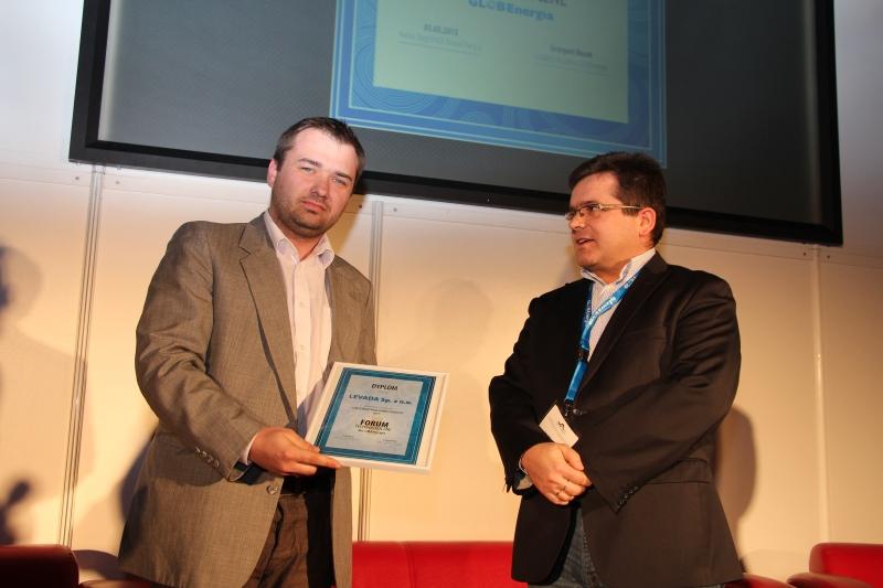 Nagrodę odbiera firma LEVADA Sp. z o.o.