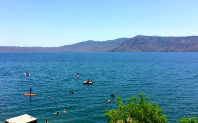 Nicaragua with Kids: Swimming Inside a Volcano