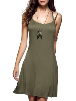 Distinctive Size Short Summer Dresses Amazon Spaghetti Strap Backless Casual Short Summer Dress Army Green Xl 2018 Spaghetti Strap Backless Casual Short Summer Dress Army Green Short Summer Dresses