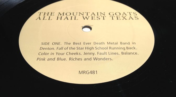 All Hail West Texas vinyl