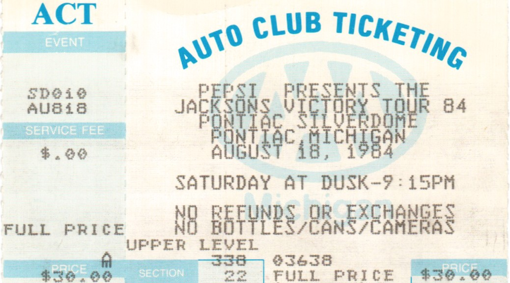 Ticketstubs: The Jacksons Victory Tour, 1984