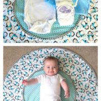 Travel Diaper Changing and Playtime Mat Tutorial