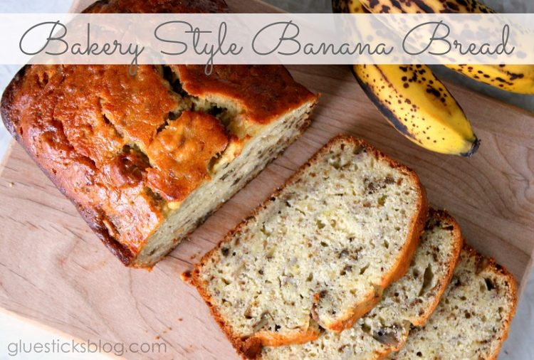 Bakery Style Banana Bread Recipe