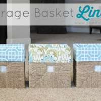 Storage Basket Liner Tutorial