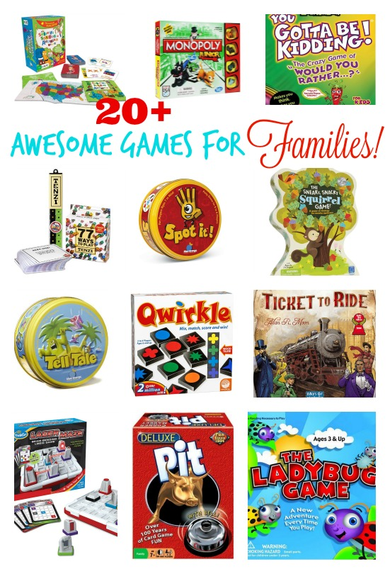 20 + Awesome Games for Families
