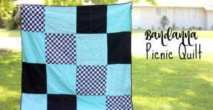 Bandanna Picnic Quilt Tutorial