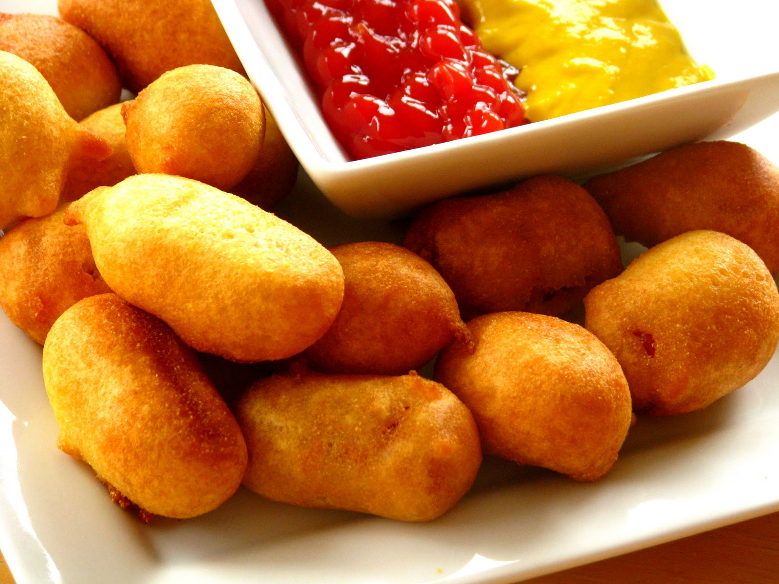 Homemade Deep Fried Corn Dog Bites