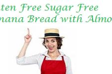gluten free sugar free banana bread