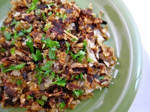 Turnip and Potato Hash Browns