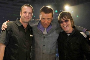 "Richard ""Wez"" Wearing, Suggs of Madness, Andy Rourke former bassist of The Smiths"