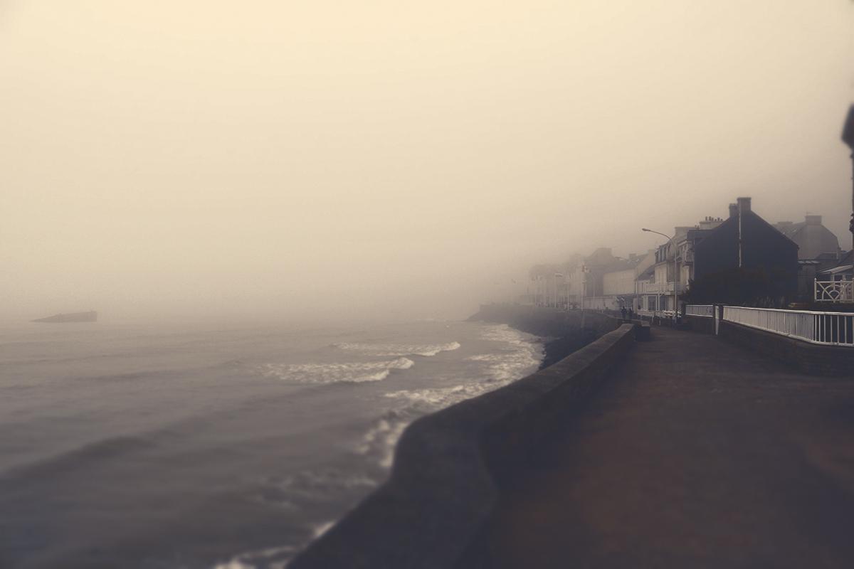 Stadt im Nebel