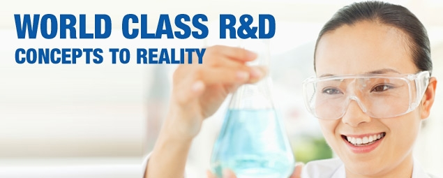 World class R&D, concepts to reality