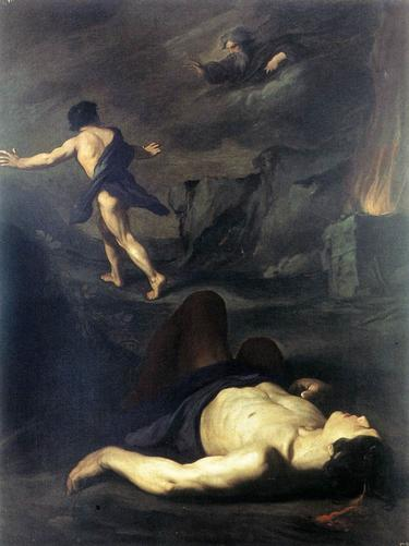 Cain and Abel %E2%80%94 attributed to Vouet and to Pietro Novelli The BirthMark of Cain