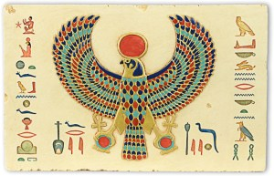 Horus winged sun