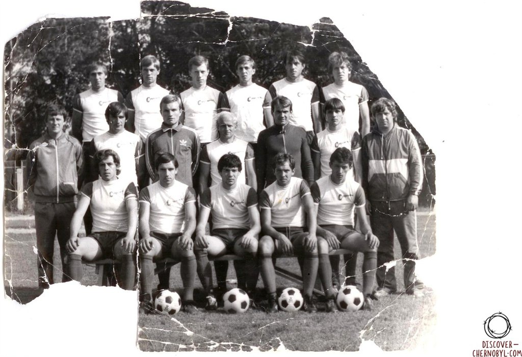 Stroitel pripyat team, 1983. [Source: discover-chernobyl.com]
