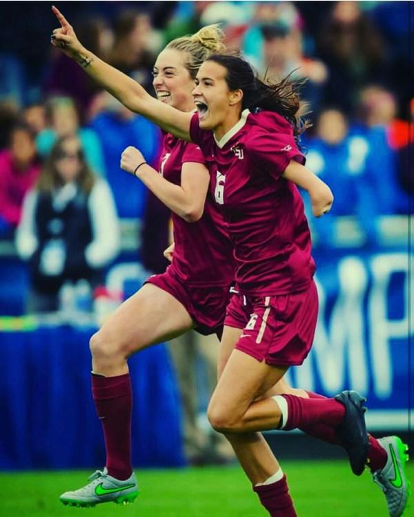 Carson Pickett celebrating one of her many goals for FSU