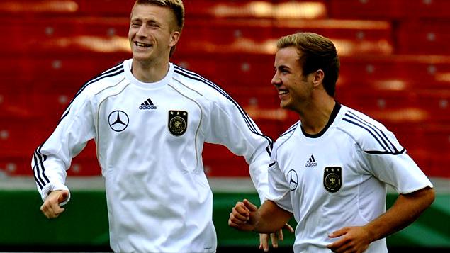 Marco Reus with Mario Goetze