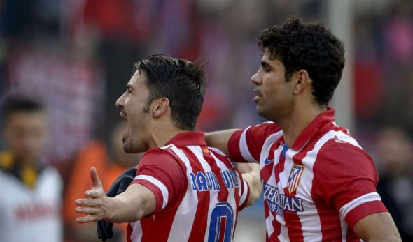 David Villa and Diego Costa would look forward to a score a few against the Italians